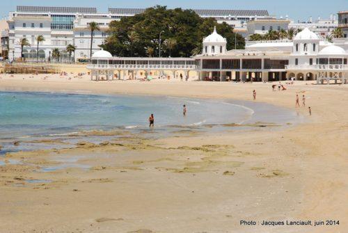 Plage de la Caleta, Cádiz, Andalousie, Espagne