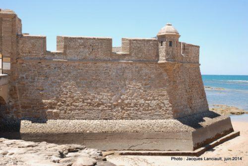 Castillo de San Sebastián, Cádiz, Andalousie, Espagne