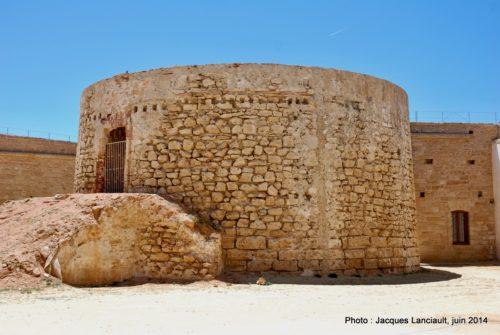 Phare, Castillo de San Sebastián, Cádiz, Andalousie, Espagne