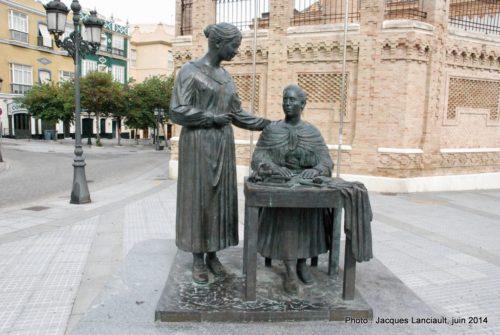Monumento a La Cigarrera, Cádiz, Andalousie, Espagne