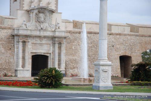 Puerta de Tierra, Cádiz, Andalousie, Espagne