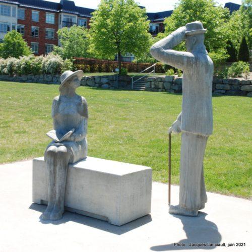 Banc public, Martine Carole Gagnon, parc des Francs-Bourgeois, Boisbriand, Québec
