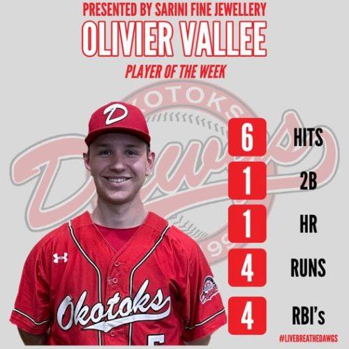 Olivier Vallée, Rouges des Dawgs d'Okotoks, Western Canadian Baseball League