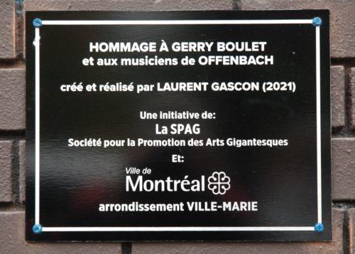 Murale Gerry Boulet, Laurent Gascon, Montréal, Québec