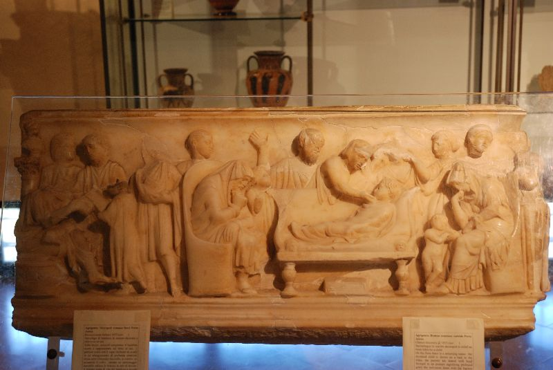 Sarcophage, Museo Archelogico Regionale d'Agrigente, Italie.