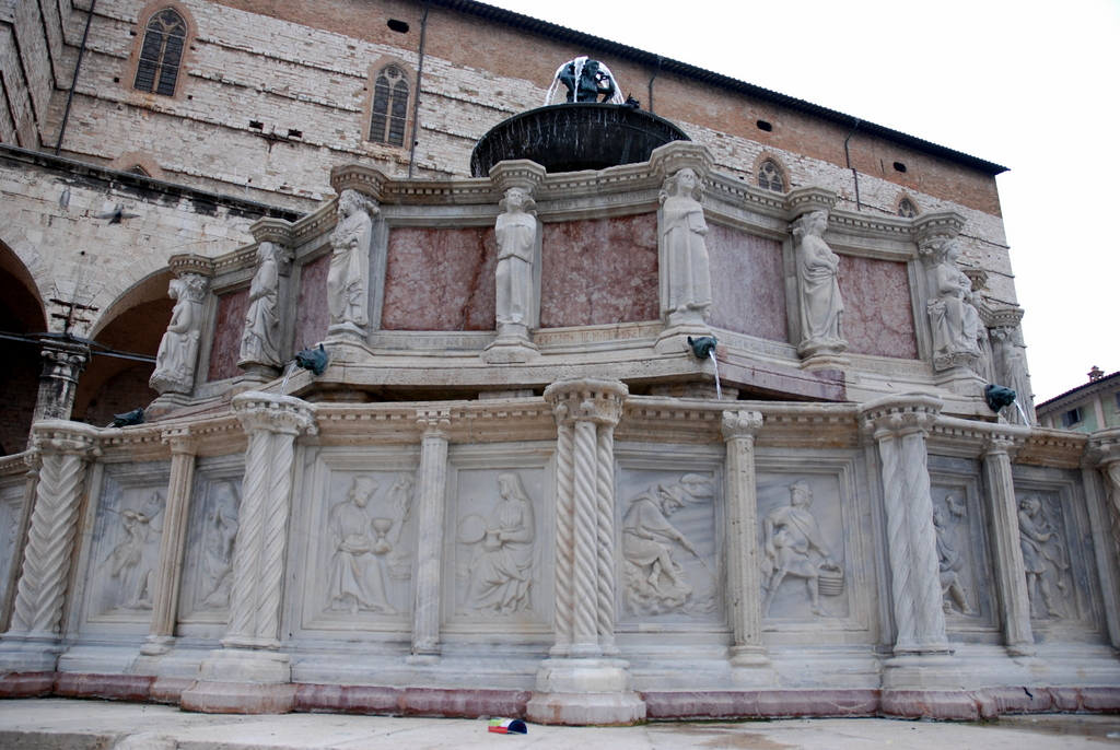 Fontana Maggiore, Pérouse, Ombrie, Italie.