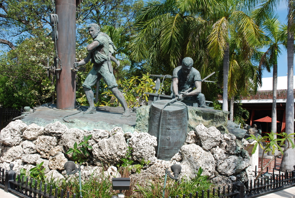 The Wreckers, Key West Historic Sculptures Garden, Key West, Floride, États-Unis