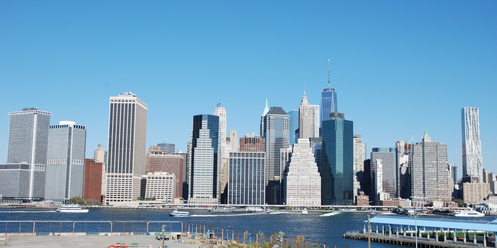 Vue sur Manhattan de Brooklyn, New York, É,-U.