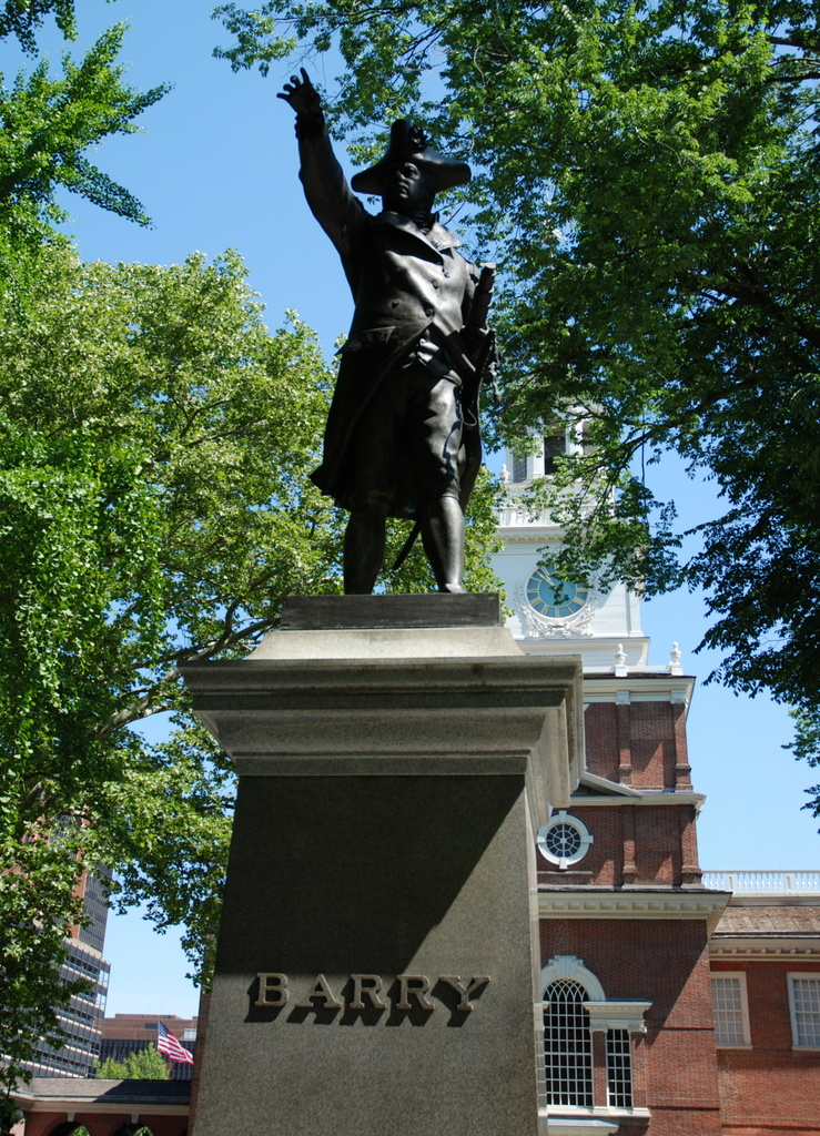 John Barry, Independence Square, Philadelphie, Pennsylvanie, É.-U.