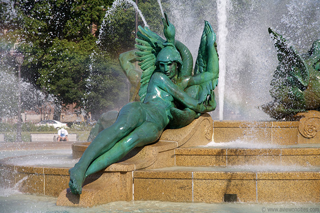 Swann Fountain, Logan Square, Philadelphie, Pennsylvanie, É.-U.