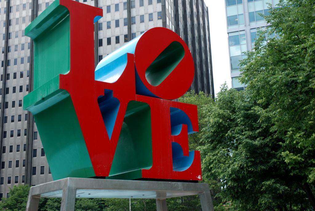 Statue LOVE, JFK Plaza, Philadelphie, Pennsylvanie, É.-U.