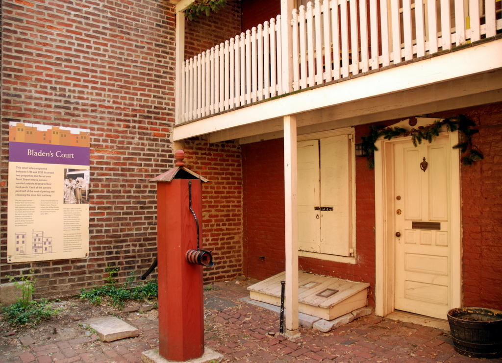 Elfreth's Alley, Philadelphie, Pennsylvanie, É.-U.