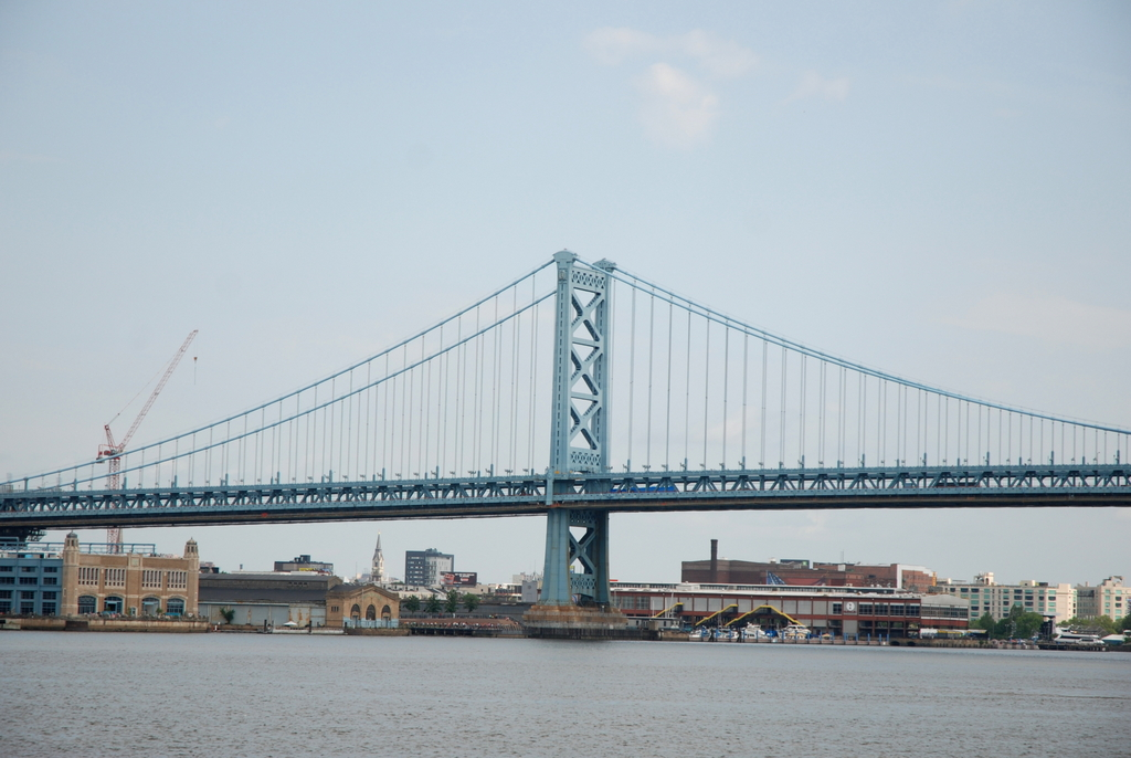 Benjamin Franklin Bridge, Philadelphie, Pennsylvanie, É.-U.