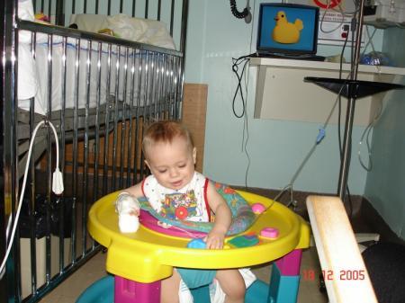 Sur la fin de mon séjour, l'hôpital m'a prêté une marchette - Félix.
