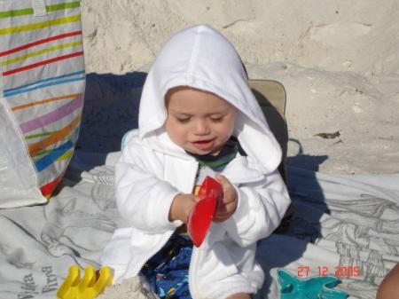 Félix à  la plage