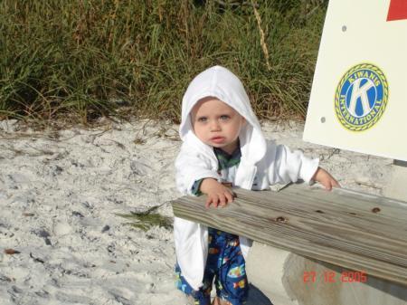 Félix à  la plage!