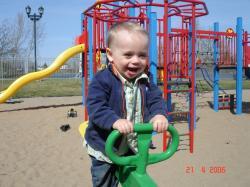 Félix Lanciault au parc.
