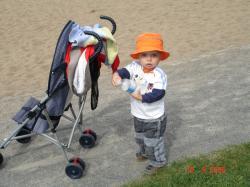 Félix au parc du quartier.