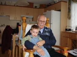 Félix et son arrière-grand-père André.