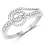 0.23 Carat Genuine White Diamond 14K White Gold Ring (G-H Color, SI1-SI2 Clarity)