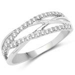 0.26 Carat Genuine White Diamond 14K White Gold Ring (G-H Color, SI1-SI2 Clarity)