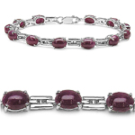 11.60 Carat Genuine Ruby Sterling Silver Bracelet