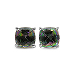 2.20 Carat Genuine Mystic Topaz Sterling Silver Earrings