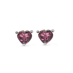 0.30 Carat Genuine Pink Tourmaline Sterling Silver Earring