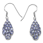 2.70 Carat Genuine Tanzanite Sterling Silver Earrings