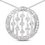 0.53 Carat Genuine White Diamond .925 Sterling Silver Pendant