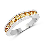 1.68 Carat Genuine Citrine .925 Sterling Silver Ring