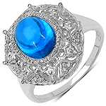 2.10 Carat Genuine Swiss Blue Topaz .925 Sterling Silver Ring