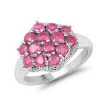 1.82 Carat Glass Filled Ruby .925 Sterling Silver Ring