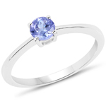 0.47 Carat Genuine Tanzanite Sterling Silver Ring