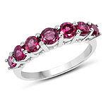 1.22 Carat Genuine Rhodolite .925 Sterling Silver Ring