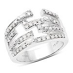 0.60 Carat Genuine White Diamond .925 Sterling Silver Ring