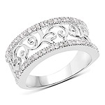 0.30 Carat Genuine White Diamond .925 Sterling Silver Ring