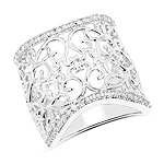0.25 Carat Genuine White Diamond .925 Sterling Silver Ring