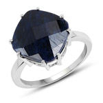 7.90 Carat Dyed Sapphire .925 Sterling Silver Ring
