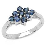 0.67 Carat Genuine Blue Sapphire .925 Sterling Silver Ring