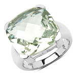 9.80 Carat Genuine Green Amethyst Brass Ring