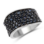 2.75 Carat Genuine Blue Sapphire .925 Sterling Silver Ring