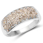 0.42 Carat Genuine White Diamond .925 Sterling Silver Ring
