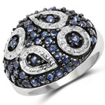1.44 Carat Genuine Blue Sapphire .925 Sterling Silver Ring