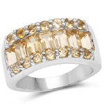 3.08 Carat Genuine Citrine .925 Sterling Silver Ring