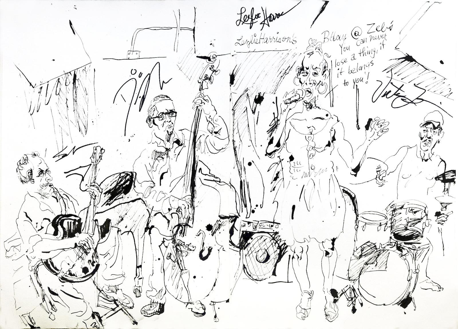 Lezlie harrison quartet at zeb's 2012