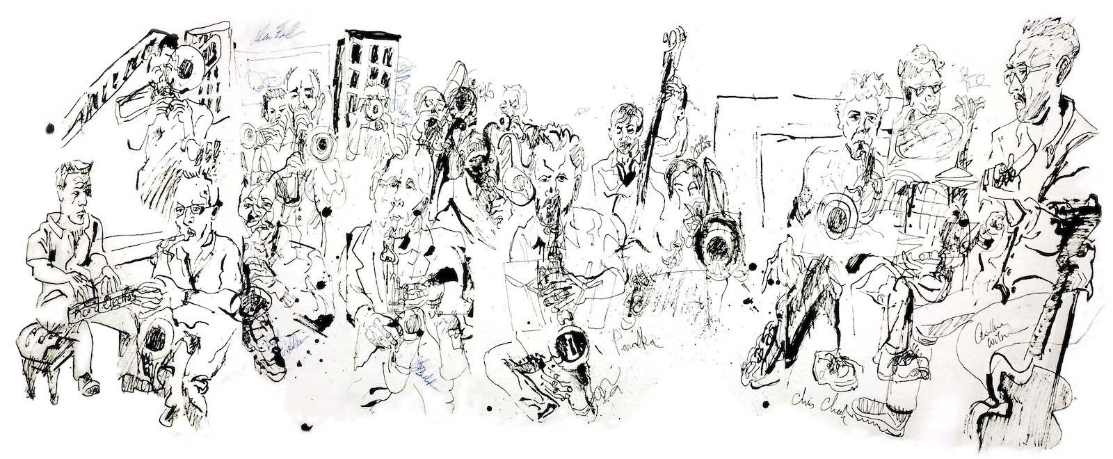 Alan ferber big band at jazz gallery 2012