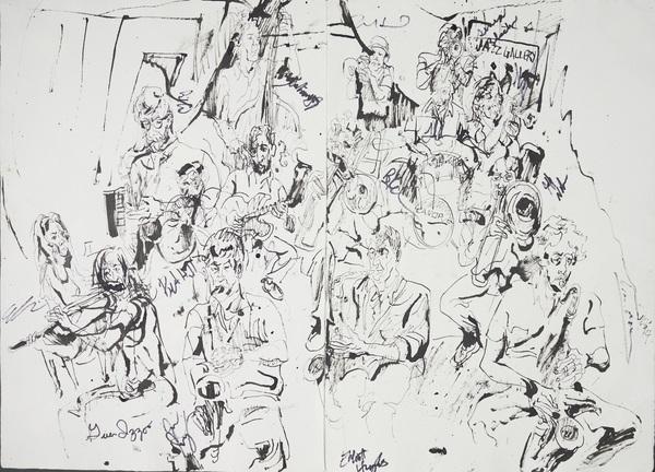 Brad linde large ensemble at jazz gallery 2014