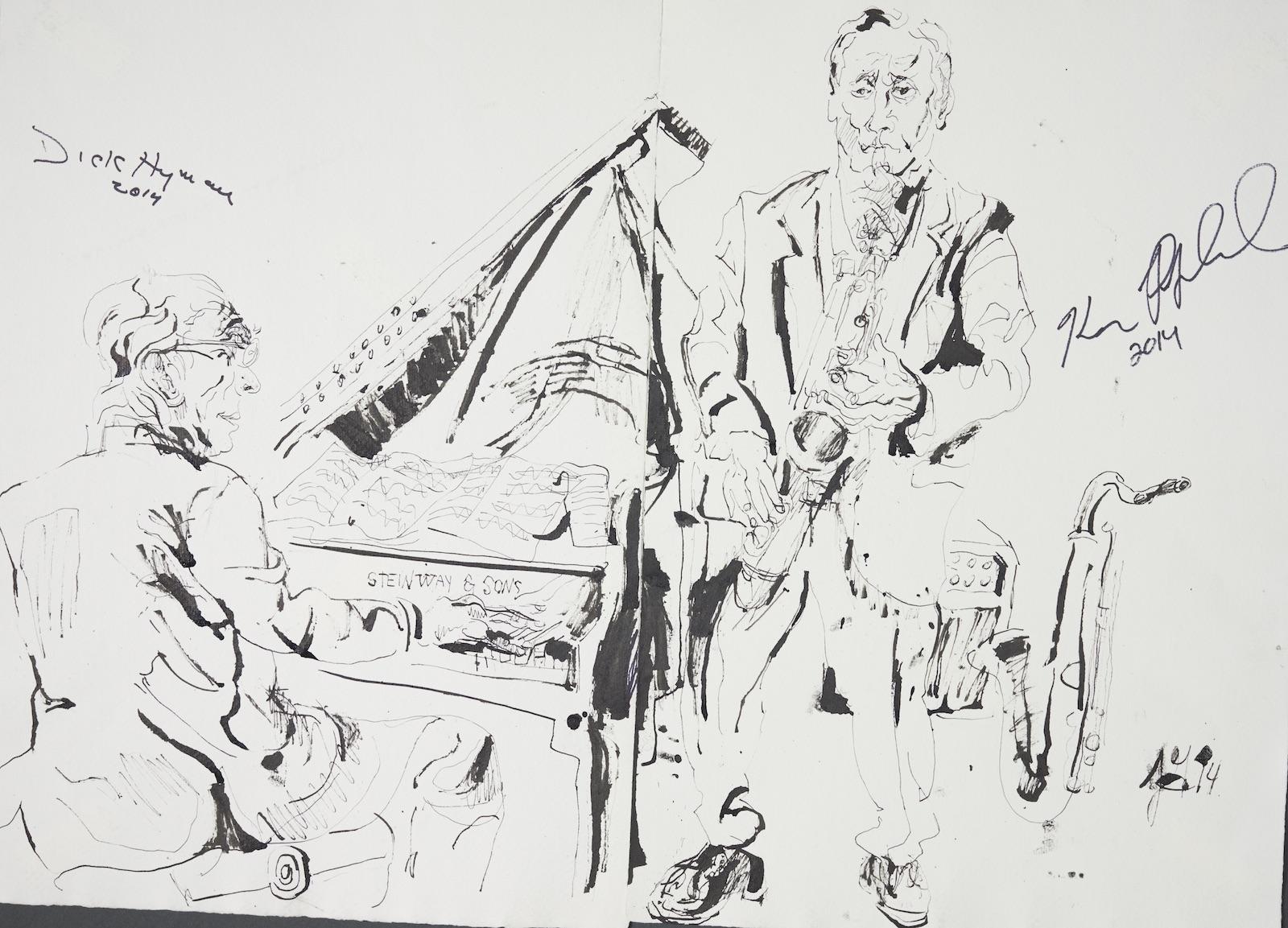 Dick hyman with ken poplowski at the kitano 2014