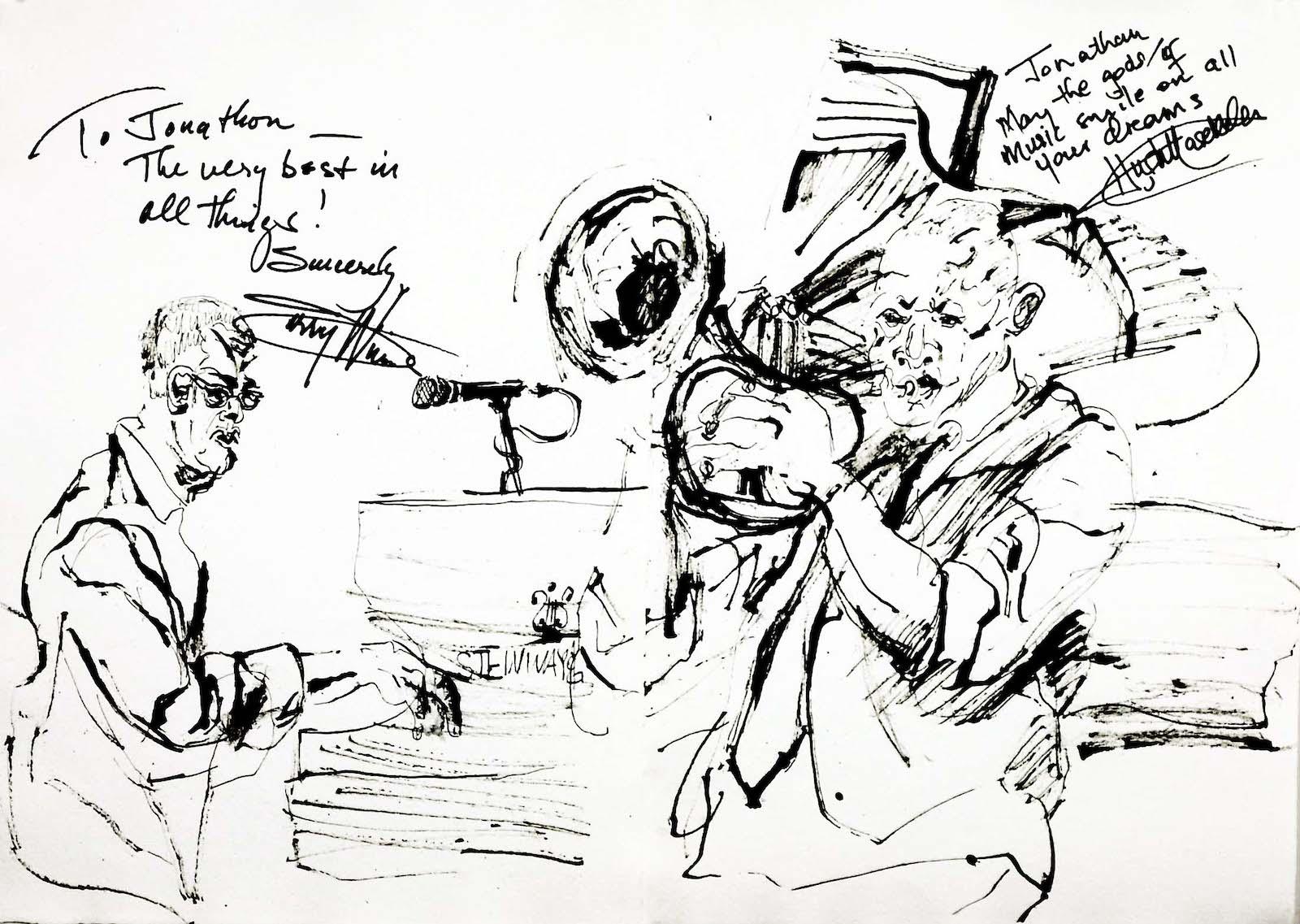 Hugh masekela and larry willis at jazz standard 2012